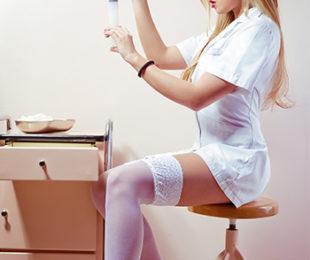 süße Krankenschwester